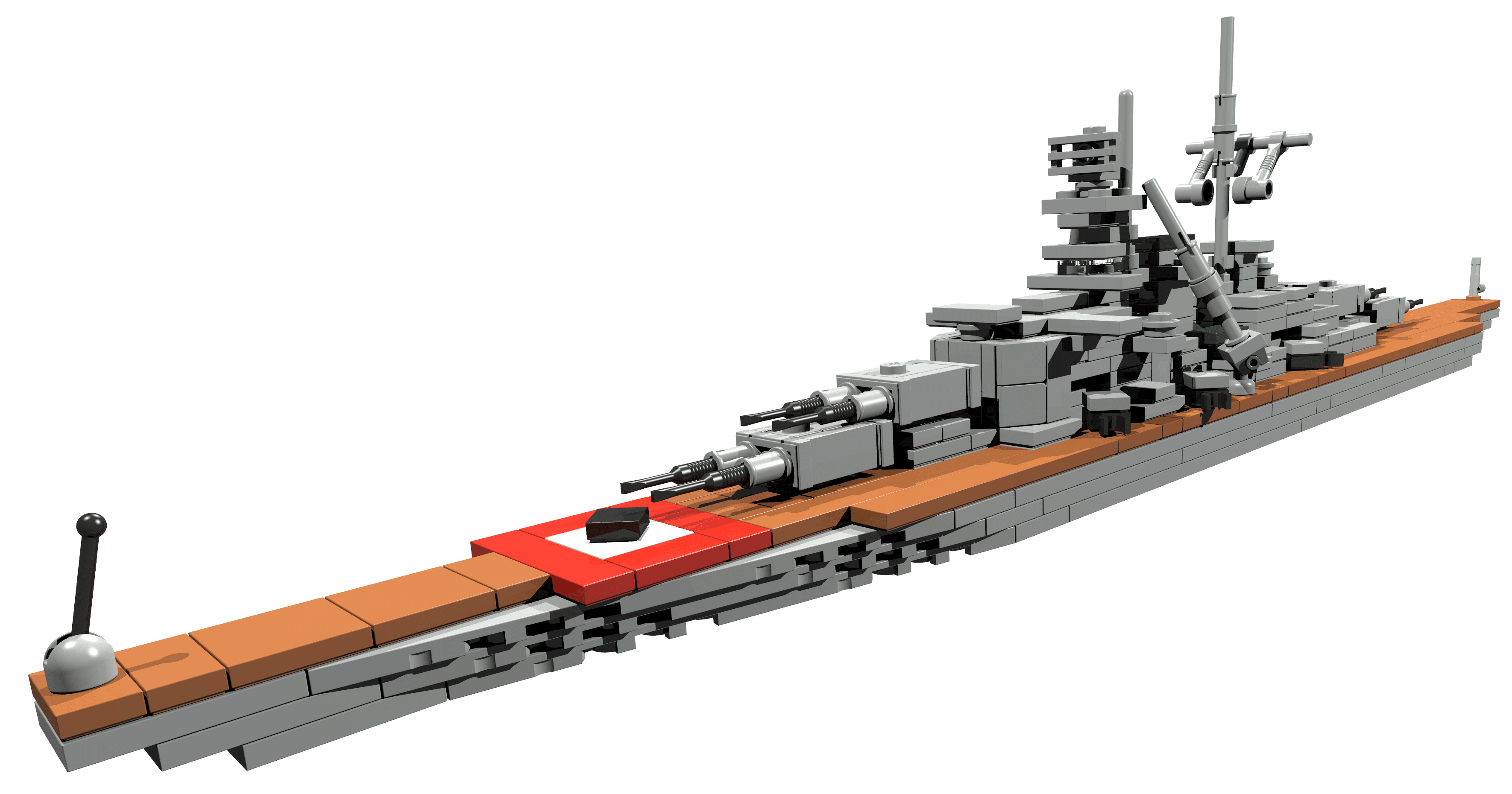 Bismarck Miniscale Battleship To Be Build Out Of Lego Bricks Lego Instructions Mocsmarket