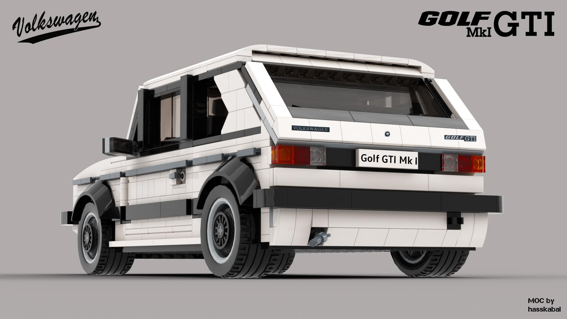 Lego Custom Instructions Volkswagen Golf Mk1 Gti White Edition Lego Instructions Mocsmarket