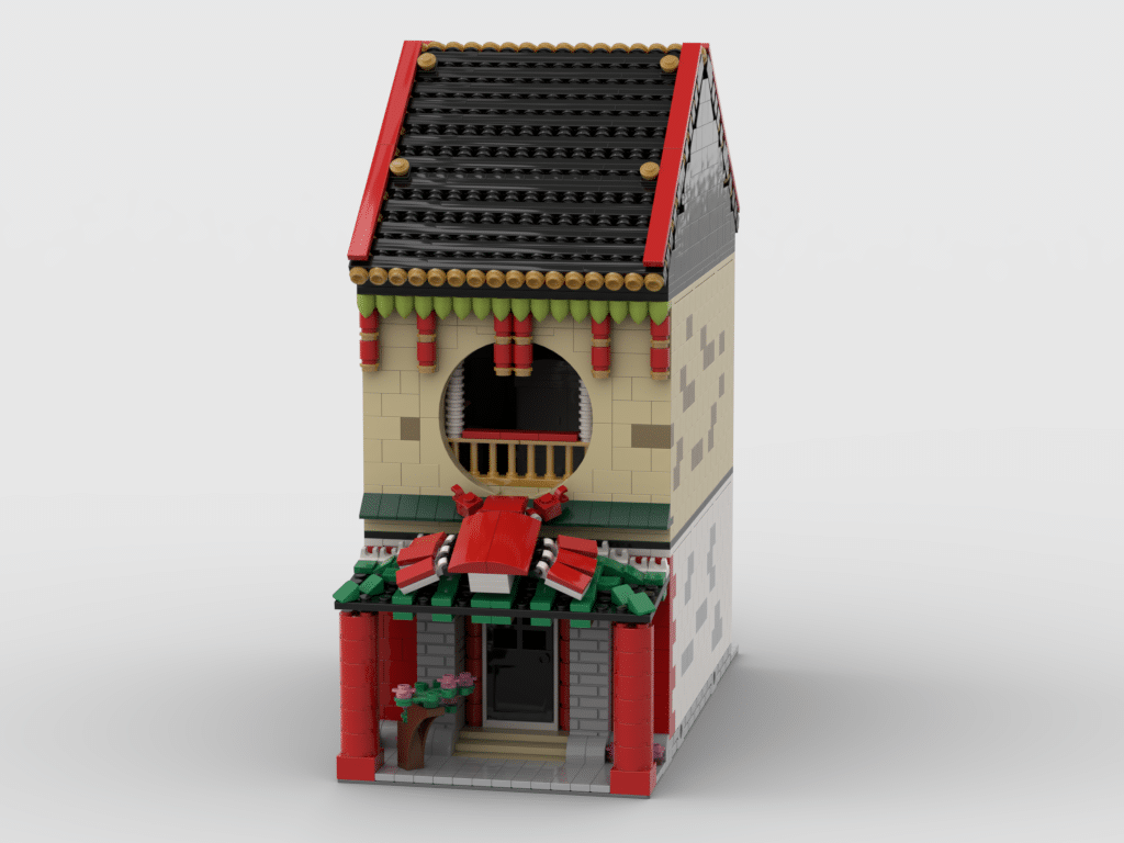 Lego Custom Instructions Modular Chinese Restaurant Lego Instructions Mocsmarket