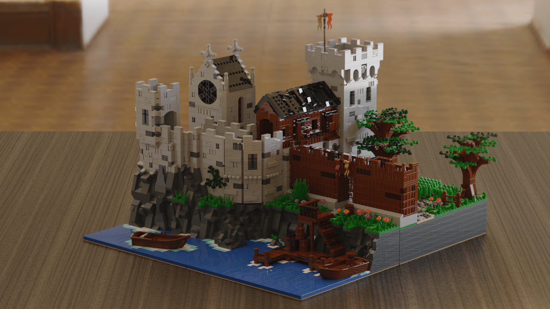 instruction//Anleitung tower//Turm modular Lego MOC medieval castle//Burg