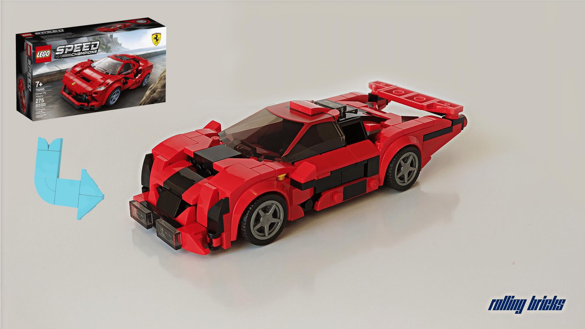 Lego Instructions 76895 Ferrari F8 Tributo Alternative Build Le Mans Racer Lego Instructions Mocsmarket